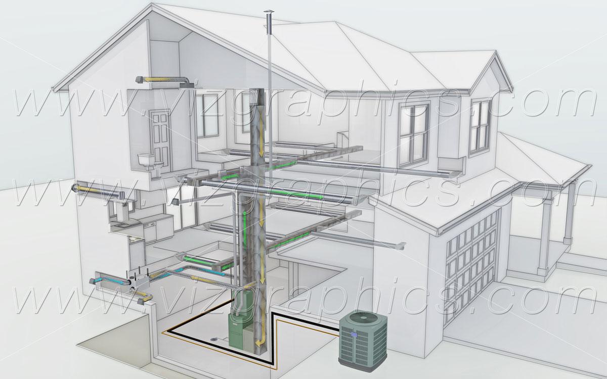 3d Building Cutaway Renderings Viz Graphics