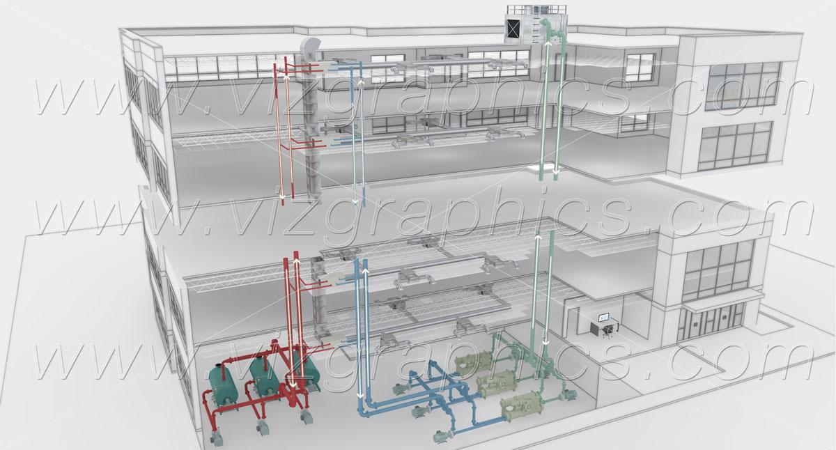 3d Building Cutaway Renderings