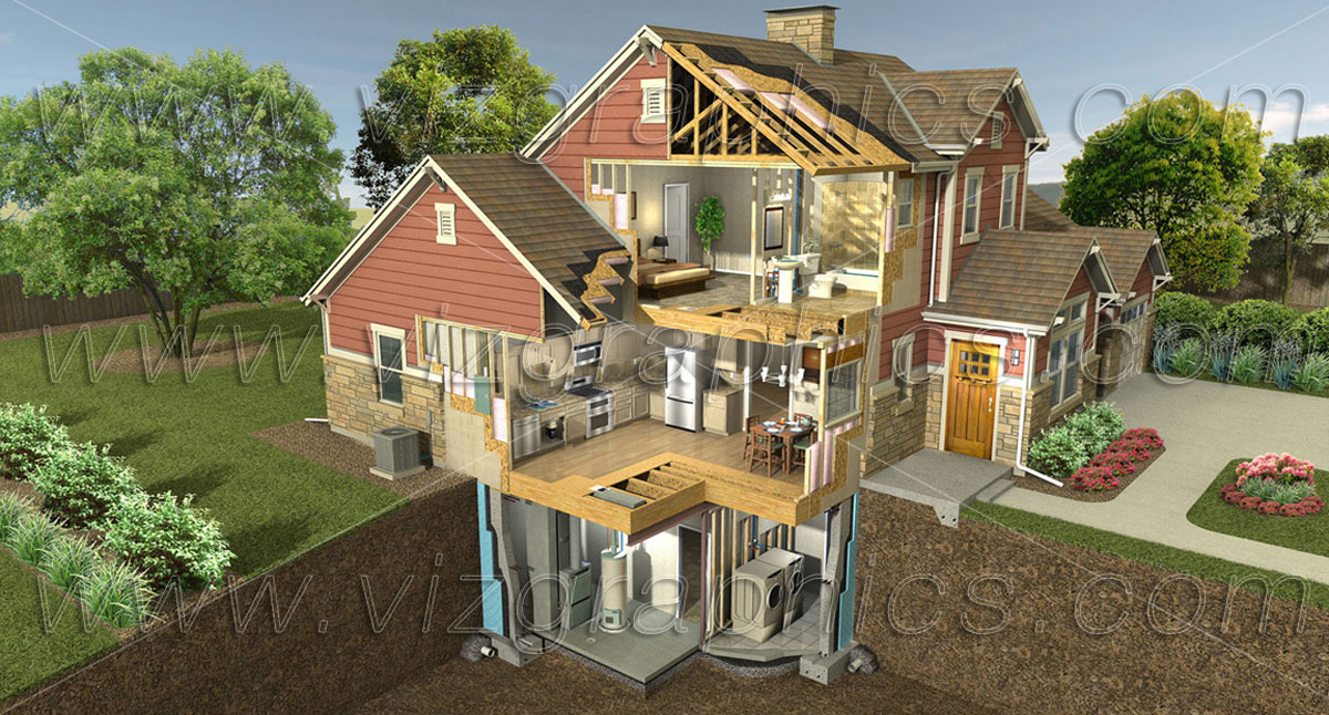 3d building cutaway renderings viz graphics for 3d house builder online