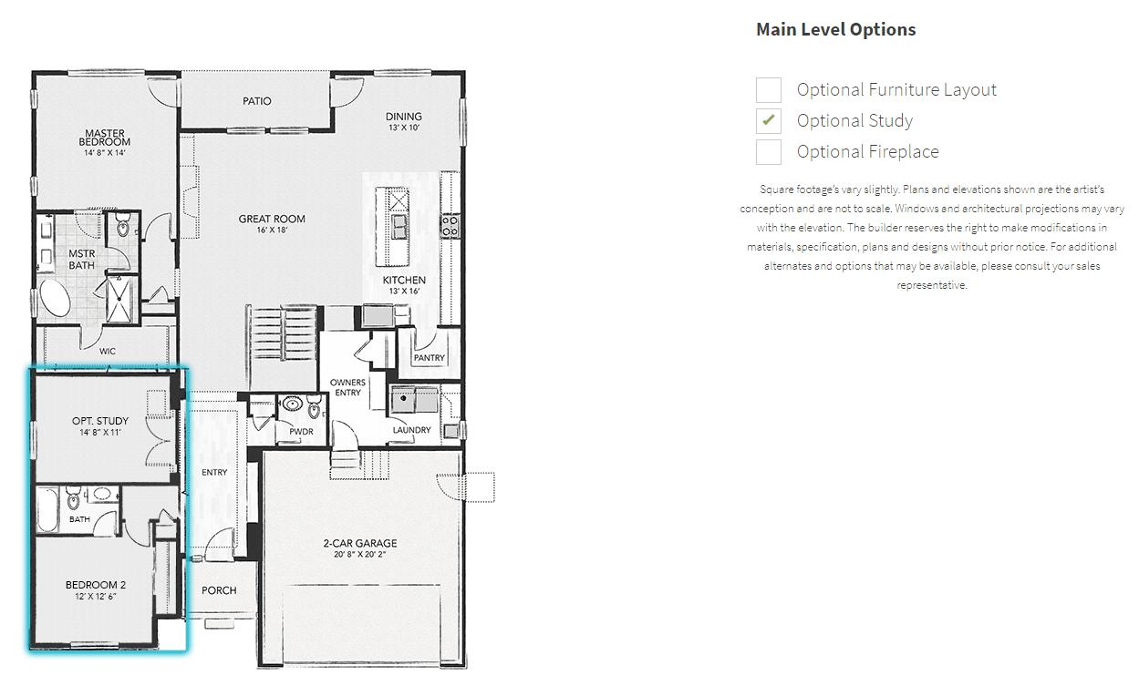 Interactive sales center viz graphics for Virtual floor plan